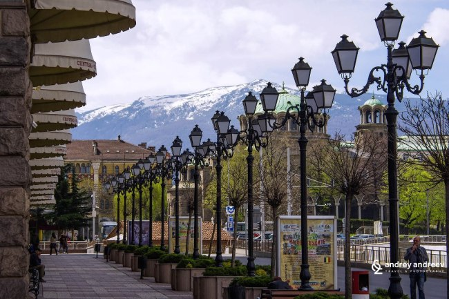 Vitosha mountain and St Nedelya Church