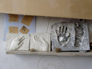 Our reliefs we left at the sculpture-house as a present..mine is in the middle