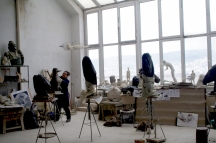 The art studio at the university