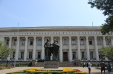 Bulgarian library with creators of alphabet
