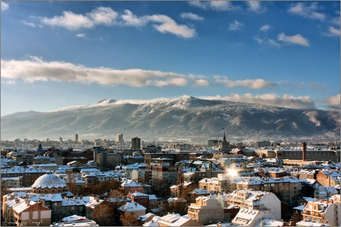 Winter morning in Sofia