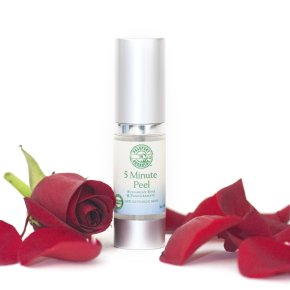 5 Minute Peel with Bulgarian Rose & Pomegranate - .5oz